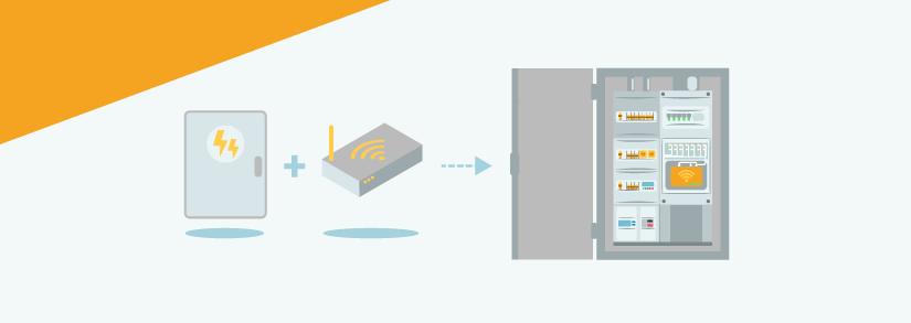 Box internet dans tableau electrique
