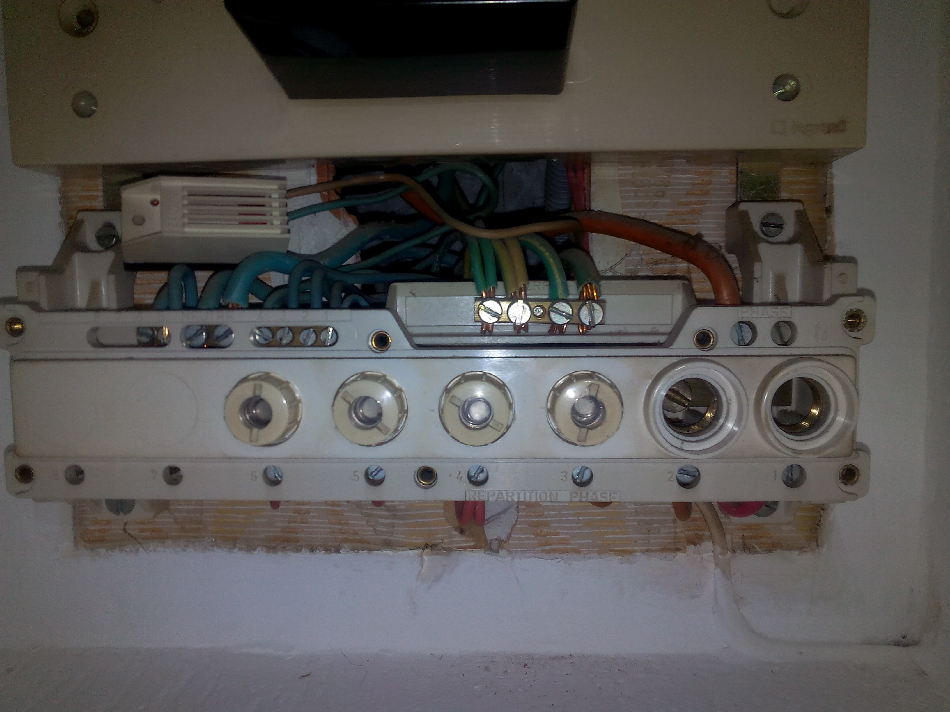 Tableau electrique annee 60