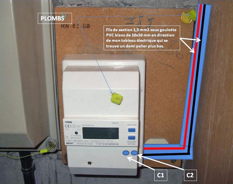 Raccordement edf tableau electrique