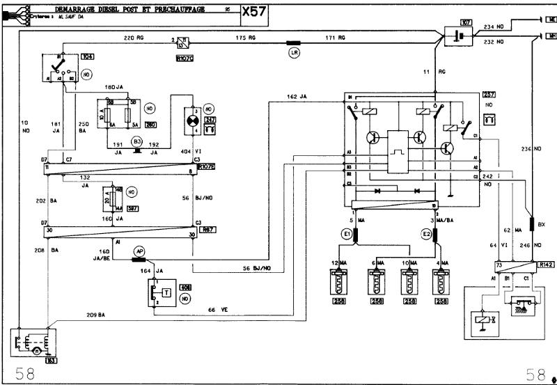 Schema electrique tableau de bord clio 1