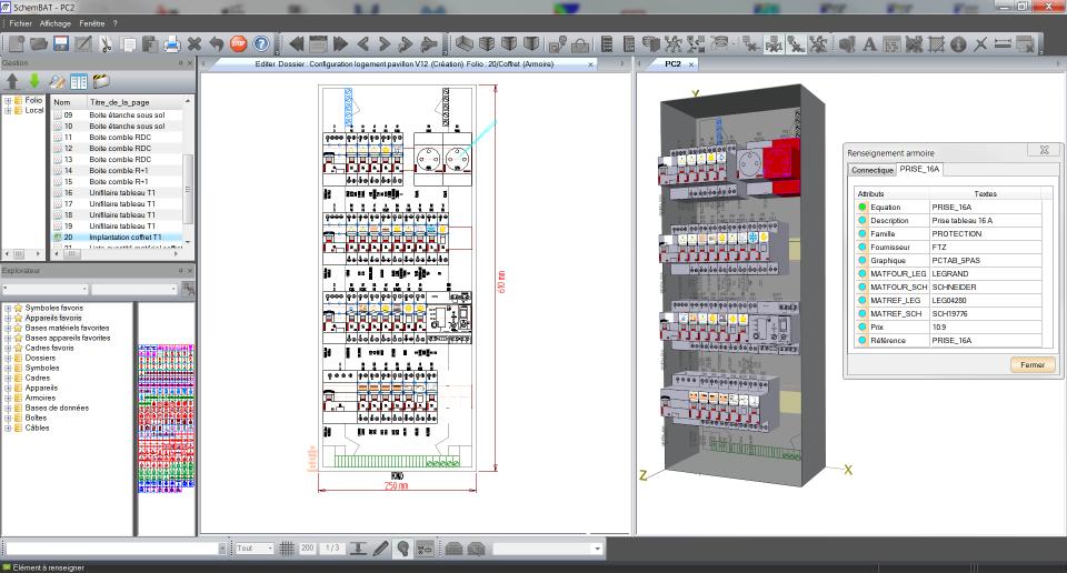 Realiser schema tableau electrique