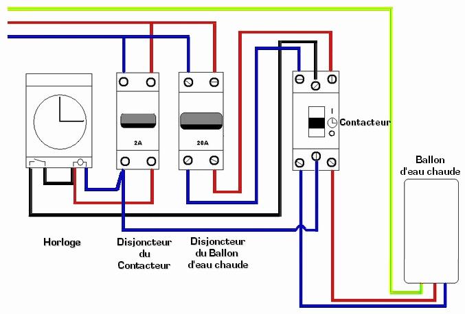 Schema tableau electrique ballon d'eau chaude