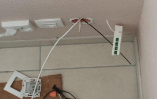 Branchement fibre tableau electrique