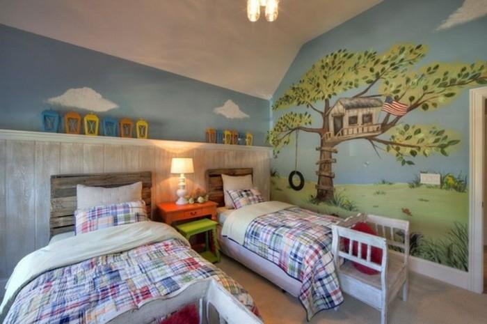 Chambre bébé peinture murale - Planetbowling117