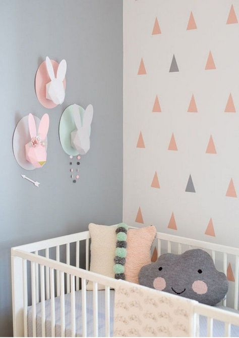 Peinture chambre bébé moderne