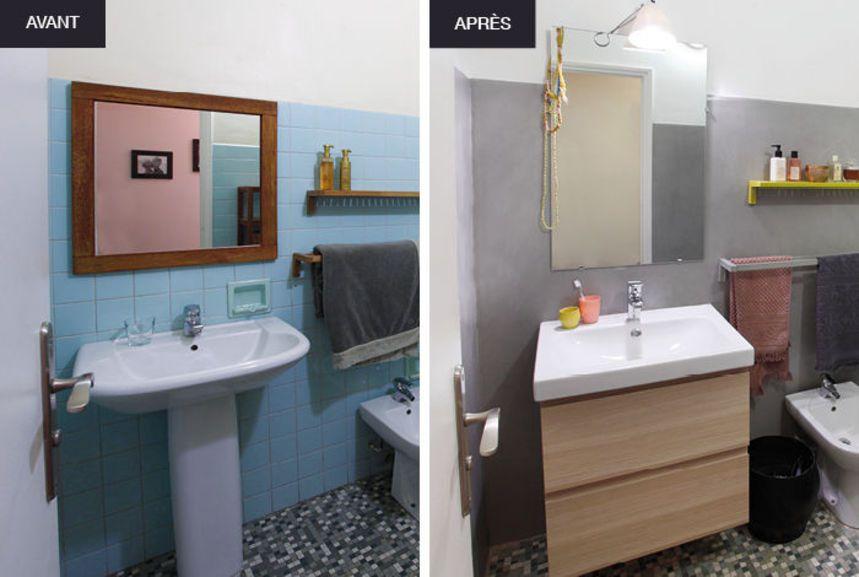 Rénover salle de bain peinture carrelage