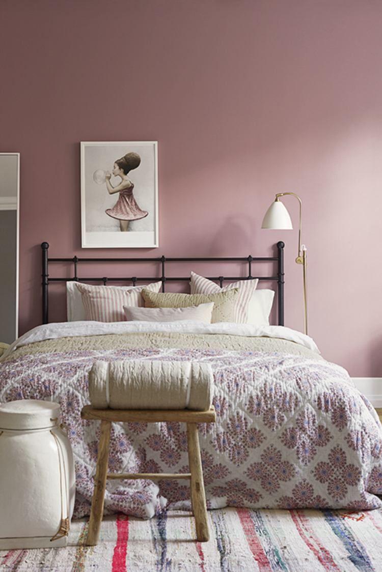 Peinture chambre montagne rose