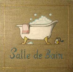 Toile peinture salle de bain