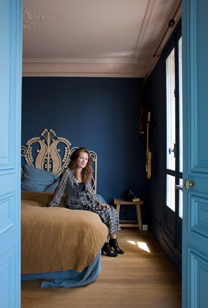 Bleu indigo peinture chambre