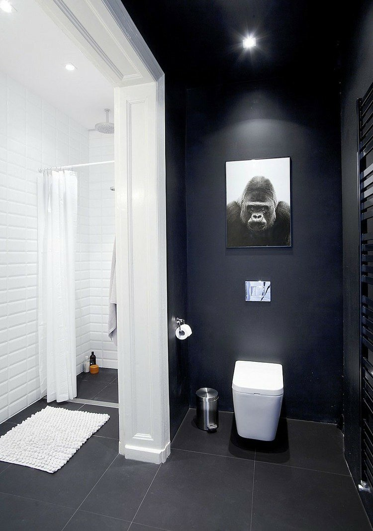 Salle de bain peinture mur