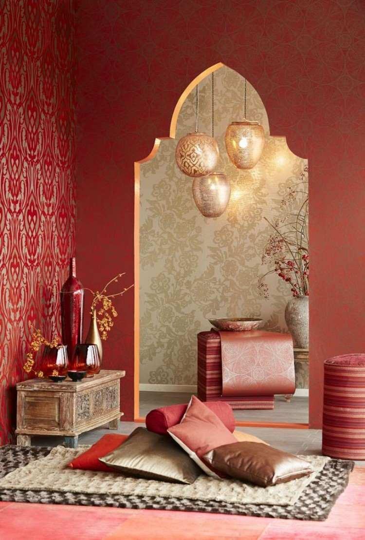 Décoration chambre orientale peinture