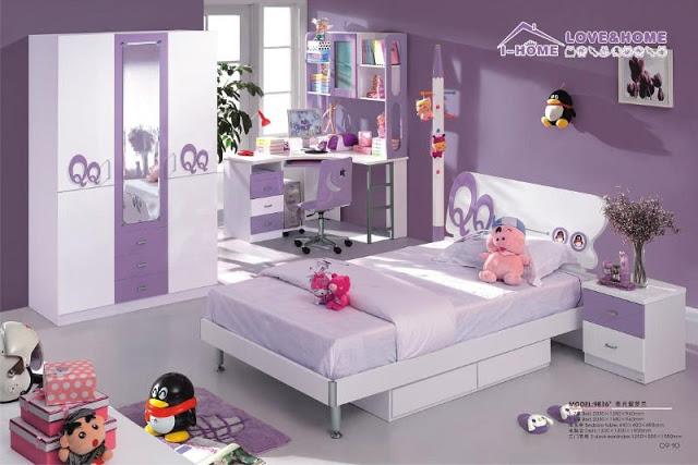 Peinture violet chambre fille