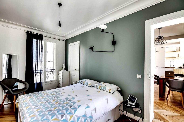 Peinture vert de gris chambre