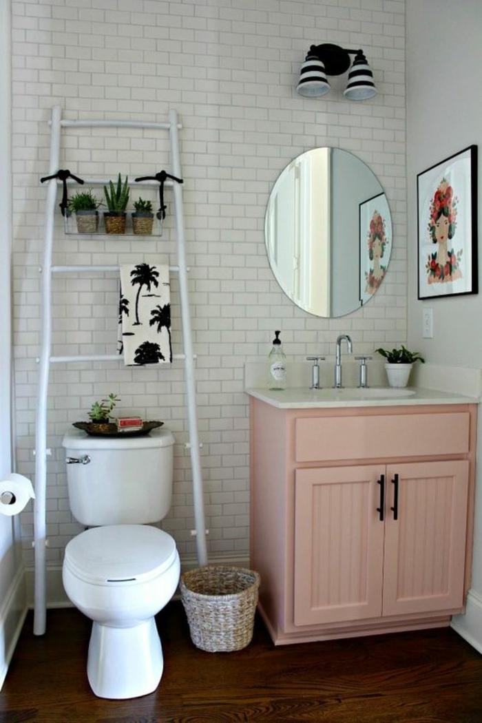 Peinture salle de bain rose poudré