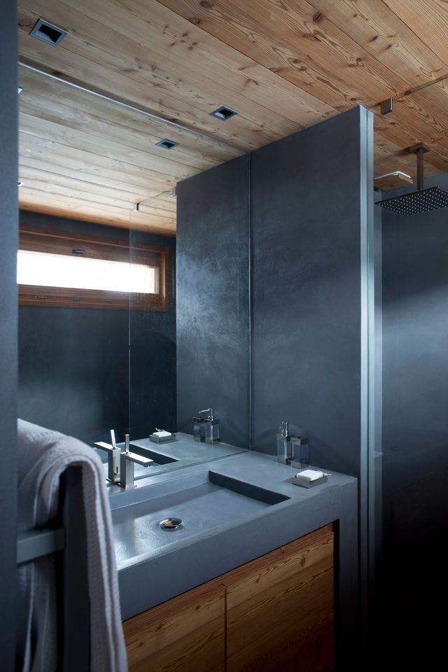 Peinture effet beton ciré pour salle de bain