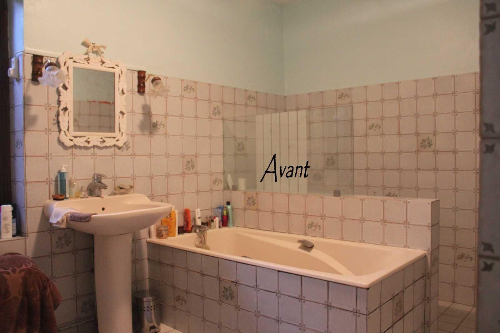 Peinture pour carrelage mural salle de bain