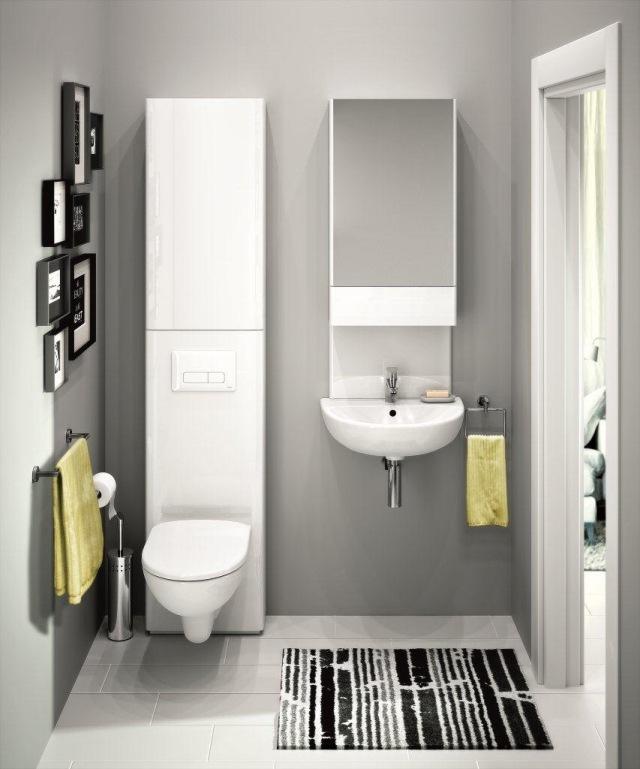 Idée peinture salle de bain gris