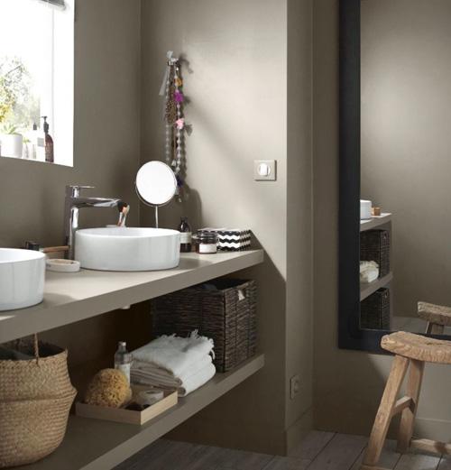 Peinture graphique salle de bain