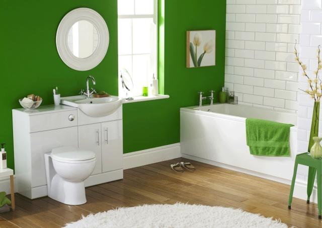 Peinture blanche pour salle de bain