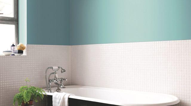 Couleur peinture murale salle de bain
